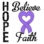 Hodgkin's Lymphoma Hope Believe Faith T-Shirts