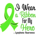 I Wear a  Ribbon For My Hero Lymphoma Shirts