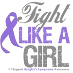 Fight Like a Girl Hodgkins Lymphoma Shirts
