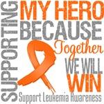 Supporting My Hero - Leukemia Shirts