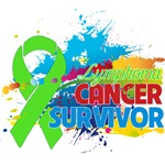 Colorful Abstract Lymphoma Survivor Shirts