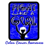 Colon Cancer Fight Like a Girl Shirts