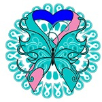 Thyroid Cancer Butterfly Shirts and Gifts
