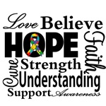 Love Believe Hope Autism Shirts and Gifts