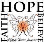 Hope Faith Multiple Sclerosis Shirts and Gifts