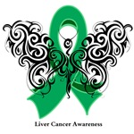 Liver Cancer Tribal Butterfly Shirts and Gifts