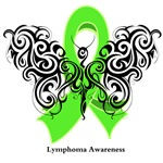 Lymphoma Tribal Butterfly Shirts and Gifts