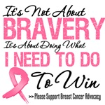 It's Not About Bravery Breast Cancer Shirts
