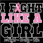 I Fight Like a Girl Breast Cancer Awareness Shirts
