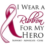 I Wear a Ribbon For My Hero Throat Cancer Shirts