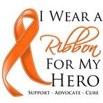 Leukemia I Wear a Ribbon For My Hero Shirts