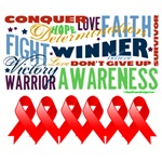 Empowering Words Blood Cancer Shirts