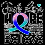 Faith Hope Thyroid Cancer Shirts