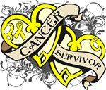 Testicular Cancer Survivor Double Heart Shir