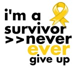 Never Give Up Childhood Cancer Shirts 
