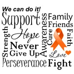 Leukemia Supportive Words Shirts and Gifts