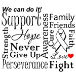 Bone Cancer Supportive Words Shirts and Gifts