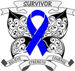 Colon Cancer Survivor Butterfly Shirts