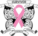 Breast Cancer Survivor Butterfly Strength Shirts