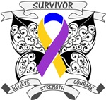 Bladder Cancer Survivor Butterfly Strength Shirts