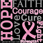 Hope Faith Courage Breast Cancer Shirts