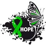 Hope Grunge Butterfly Bile Duct Cancer Shirts
