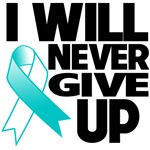 I Will Never Give Up Cervical Cancer Shirts