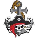 Pirate Skull Anchor
