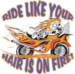 Flaming Motorcycle Skull