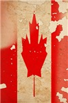 Distressed Canadian Flag