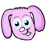 Pink bunny head