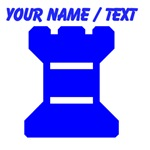 Custom Blue Chess Rook