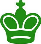 Green King Chess Piece