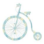 Retro Bicycle Silhouette - argyle