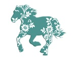 Running Horse with flowers