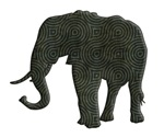 Elephant Silhouette swirls
