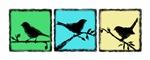 Bird Grunge Silhouette -Cool tones