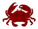 Crab - grunge silhouette