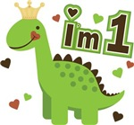 I'm 1 Dinosaur Princess First Birthday T-Shirts
