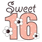 Sweet 16 Sixteenth Birthday Gifts T-shirts