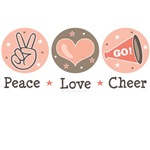 Peace Love Cheer Cheerleader T-shirt Gifts