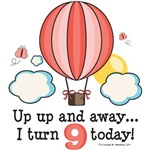 Hot Air Balloon 9th Birthday Party Ideas Gifts