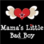 Mama's Little Bad Boy Baby Tee Shirt Gifts
