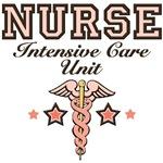 ICU Nurse Pink Caduceus T shirt Gifts