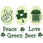 Peace Love Green Beer T-shirt St Paddys Day Gifts