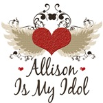 Winged Heart Allison Is My Idol T-shirt Gifts
