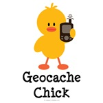 Geocache Chick T shirt Tees Geocaching Gifts