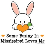 Some Bunny In Mississippi Loves Me T-shirt Gifts
