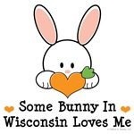 Some Bunny In Wisconsin Loves Me T shirt Gifts