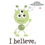 I Believe Alien T-shirt Tees and UFO Gifts